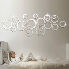 Amazon Com Hooddeal Acrylic Mirror Style Removable Decal Vinyl Art Wall Sticker Home Decor 48 Pcs Silver Arts Crafts Sewing