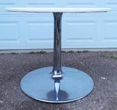mid century modern chrome tulip table