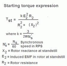 torque formula for induction motor