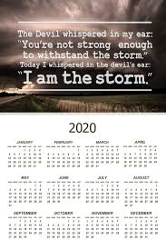 i am the storm quote motivational calendar poster x inch