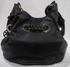 michael kors black leather tassel