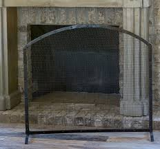 metal fireplace screens rustic