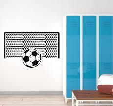 Vinyl Wall Decal Soccer Ball Sports Fan Gate Team Game Kids Room Stick Wallstickers4you