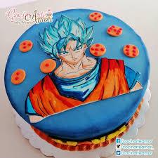 Cocinarte Amor Pastel Diseno Goku Nivel Dios Pintado A