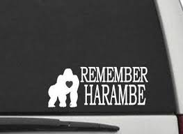 Cw2429 Remember Harambe Decal Sticker For Cars Trucks Laptops Etsy
