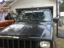 Rough Country Windshield Decal Jeep Cherokee Forum