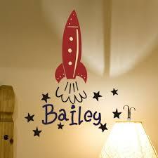 Alphabet Garden Designs Personalized Bailey S Rocket Wall Decal Wayfair
