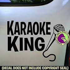 Amazon Com The Gorilla Farm Karaoke King Singing Microphone Sing Song Vinyl Decal Sticker Car Window Wall Sign Black Home Kitchen