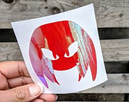 Knuckles Decal Etsy