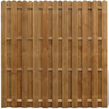 Festnight Garden Fence Panel Outdoor Screening Fencing Barrier Hit And Miss Brown Pine 180x180 Cm Amazon Co Uk Kitchen Home