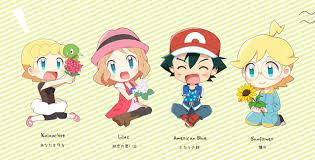 Pokémon XY xyz kalos Family Gang SERENA satoshi ASH Bonnie and ...