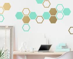 Honeycomb Wall Decals Hexagon Vinyl Wall Decals Geometric Wall Decals Multicolored Decals Modern Wall Decor