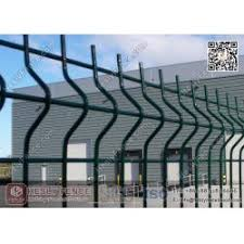 Green Color Pvc Coated Welded Wire Fence Panels 1 8m High X 3 0m Width Heslymetalmesh