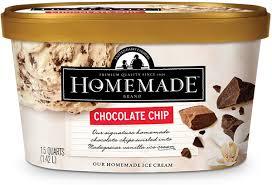 chocolate chip homemade brand ice cream