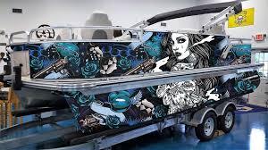 2020 Custom Pontoon Boat Wrap Design Guns Greenback Wraps Com