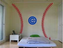 Baseball Stitches Wall Decal Kit World Series Chicago Cubs Etsy