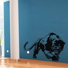 Amazon Com Colorfulhall 23 6 X 31 1 Black Wall Art Sticker Decal Lovely Animal Panther Mural Home Kids Room Bedroom Decoration Home Kitchen