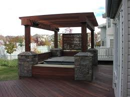 exotic decking benches privacy screen