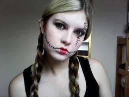 halloween rag doll make up tutorial
