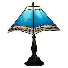 tiffany sky blue glass bedroom table