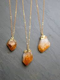gold citrine necklace raw citrine