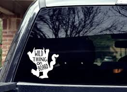 Wild Thing Car Decal Etsy