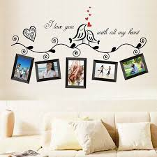 Colored Picture Frame Pattern Home Decoration Pvc Decorative Wall Stickers Wall Decor Stickers Family Tree Wall Decal Wall Sticker