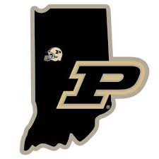 Purdue Boilersmakers Home State Vinyl Auto Decal Ncaa Indiana Shape W Helmet Ebay