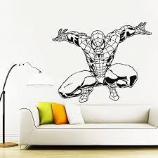 Amazon Com Wall Decals Superheroes Spiderman Wall Decal Spiderman Sticker Spiderman For Boys Wall Decal For Kids Spiderman Custom Name Avengers Sticker Spidernam Car Kau 297 Handmade