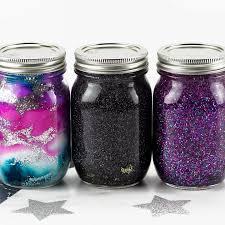 galaxy glitter jars fireflieud