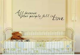 All Because Two People Fell In Love Vinyl Wall Decal Sticker Home Decor Family Decor Decals Stickers Vinyl Art Home Garden
