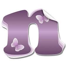 Wall Letters N Purple Butterfly Custom L Buy Online In French Polynesia At Desertcart