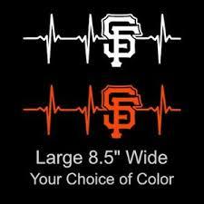 San Francisco Giants Heartbeat Large 8 5 Inch Vinyl Decal Sticker 49ers Car Ebay
