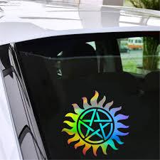 Supernatural Anti Possession Pentagram Car Window Sticker Vinyl Decal Funny Vinyl Decal Sticker Vinylcar Window Sticker Aliexpress