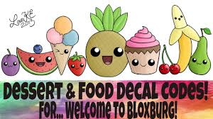 Dessert And Food Decal Codes Welcome To Bloxburg Youtube