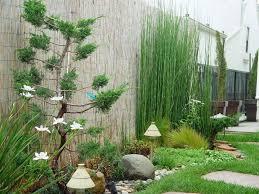 zen garden patio pond bamboo modern