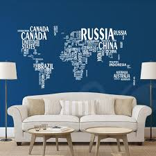 World Map Wall Decal Sticker Wall Decals Wall Graphics Toronto