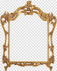 oval mirror with brown frame mirror