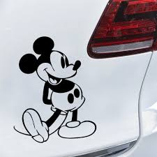 Funny Mickey Mouse Car Sticker Waterproof Self Adhesive Removable Car Sticker Scratch Cover Decal Auto Decoration Buy At The Price Of 1 48 In Aliexpress Com Imall Com