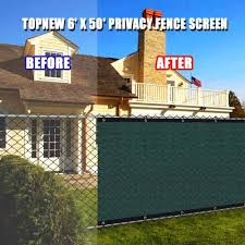 6 X 50 Heavy Duty Privacy Screen Fence 90 Blockage Green Mesh Shade Net Cover With Brass Grommets Includes 75 Zip Ties Aliexpress
