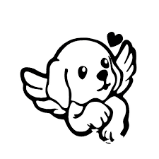 Xsticker 14 6 14cm Cute Pet Dog Angel Guardian Cool Design Car Sticker Vinyl Decal Black Silver Covering The Body Stickers Wish