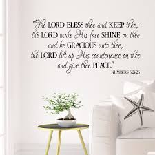 Numbers 6v24 26 Vinyl Wall Decal 6 May The Lord Bless Thee And Keep