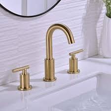 trustmi 2 handle 8 inch brass bathroom