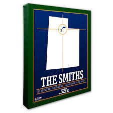 Utah Jazz Personalized Nba Wall Art
