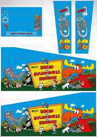 Rocky And Bullwinkle Pinball Cabinet Decals Set Pinball Decals Eu