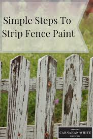 Wondering How To Strip Fence Paint Follow These Simple Steps Fence Paint Painted Wood Fence Stripping Paint