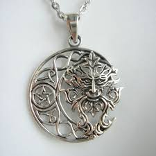 fairy elf and moon pendant 925 sterling