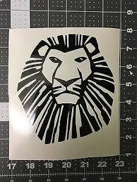 Disney Lion King Simba Vinyl Decal For Cars Windows Laptops Hang Gliders Tanks Ebay