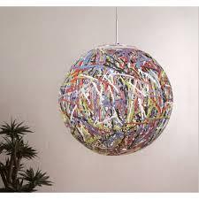 multi coloured globe pendant light