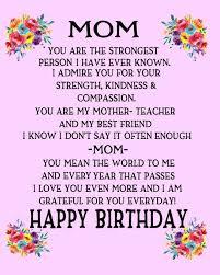 Mom Happy Birthday: Gift For Mom Poem For Mom Birthday Pink ...